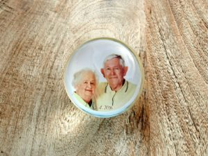 Photopaperweight with Grandma and Grandpa
