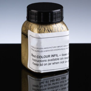 Gold £1 Engraving Infill - 45ml Jar_Simple Instructions - Long Lasting