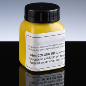 Yellow Engraving Infill - 45ml Jar_Simple Instructions - Long Lasting