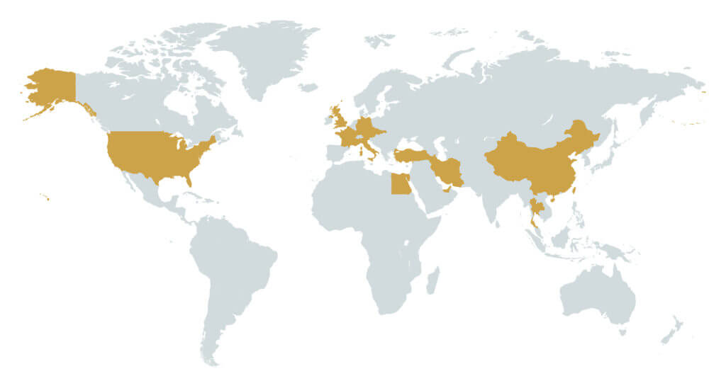 Kotara sro - foreign customers map