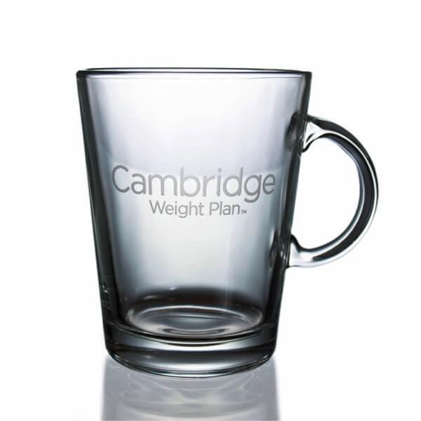 Glass cup with sandblasted logo - 400 ml