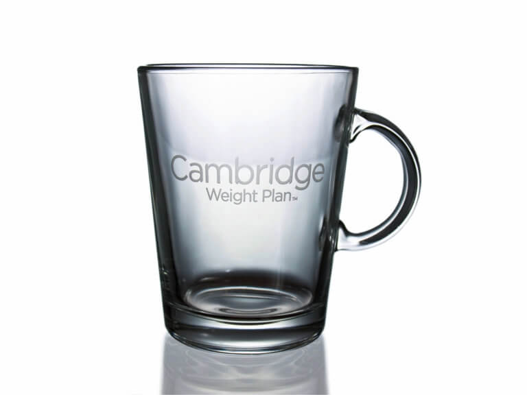 Glass cup with sandblasted logo - 400 ml