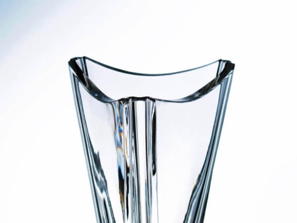 Triangular crystal sports trophy with window for sandblasting - Xcross, 40 cm
