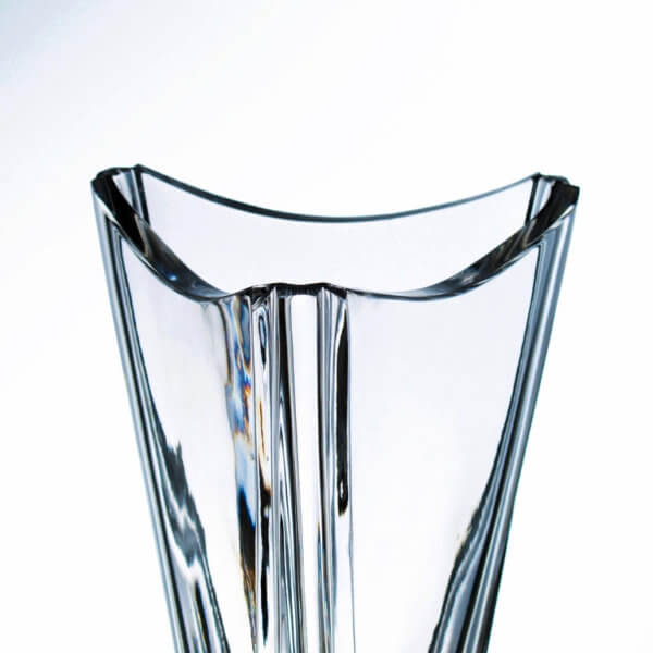 Triangular crystal sports trophy with window for sandblasting - Xcross, 40 cm
