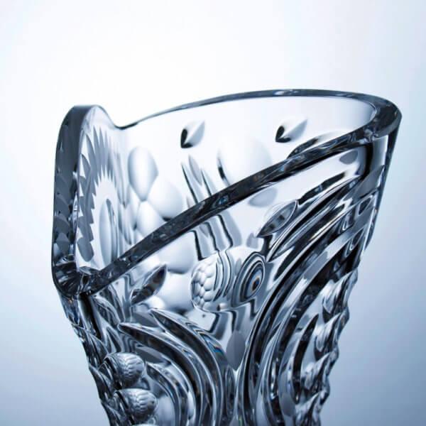 Ručně vyrobená křišťálová trojhranná váza - Cosmos, 40 cm