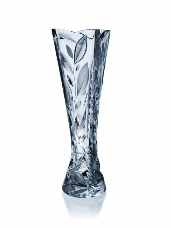 Ručně vyrobená křišťálová trojhranná trofej - Leaves, 40 cm