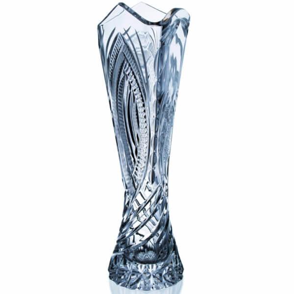 Ručně vyrobená křišťálová trojhranná trofej - Spiral, 40 cm