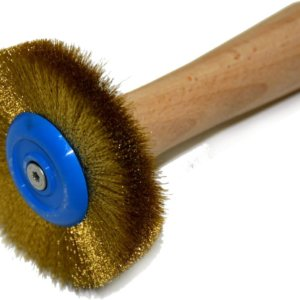 Brass brush - BubbleExwith 0.1 mm wire diameter for masks with extra fine details.