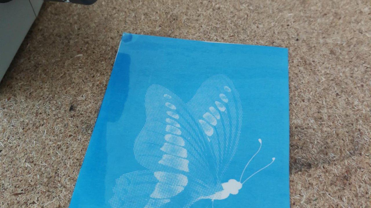 Pískovací šablona motýl